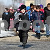 Rob Winner – rwinner@daily-chronicle.com<br /> Christian Spear, 6, runs out of building ahead of his classmates for lunch recess at Gwendolyn Brooks Elementary School in DeKalb, Ill. on Tuesday January 19, 2010.