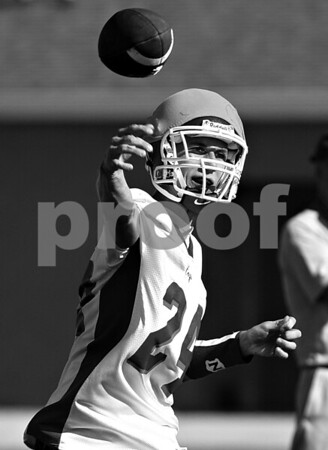 Rob Winner – rwinner@daily-chronicle.com<br /> <br /> Rob Thurlby throws a pass during the Cogs' morning practice on Thursday August 12, 2010 in Genoa, Ill.