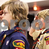 Beck Diefenbach  -  bdiefenbach@daily-chronicle.com<br /> <br /> Jacob Handel, right, salutes during the Pledge of the Allegiance as part of the opening ceremonies for Troop 2810's first meeting at Salem Lutheran Church in Sycamore, Ill., on Monday Feb. 8, 2010.
