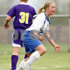 Beck Diefenbach  -  bdiefenbach@daily-chronicle.com<br /> <br /> Hinckley-Big Rock's Maxzine Rossler (22) reacts after scoring a goal by heading the ball during the first half of the game against Mendota at H-BR in Hickley, Ill., on Tuesday May 18, 2010.