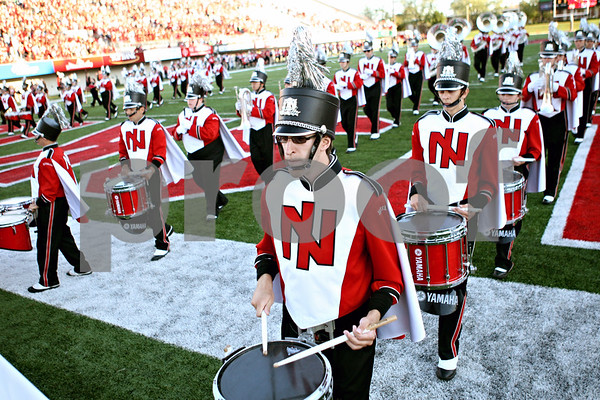 Rob Winner – rwinner@daily-chronicle.com<br /> <br /> The Northern Illinois marching band leaves the field before the start of the first quarter in DeKalb, Ill. on Saturday September 11, 2010. Northern Illinois defeated North Dakota 23-17.