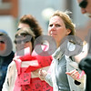 Rob Winner – rwinner@daily-chronicle.com<br /> <br /> Kathy Hicks, of DeKalb, participates in Hands Around the Courthouse on Thursday April 29, 2010. This annual event at the DeKalb County Courthouse in Sycamore, Ill. hopes to bring awareness to child abuse.