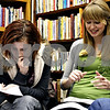 Rob Winner – rwinner@daily-chronicle.com<br /> Devin Moulton (left), 15, and Alicia McConnell, both of Sycamore, take part in a personality test that was given to a group of local area high school students on Thursday January 21, 2010 at the Flewellin Memorial Library in Shabbona, Ill. The students are a part of Youth Engaged in Philanthropy, a youth program that teaches young people leadership skills and the importance of community involvement and philanthropy.