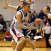 Rob Winner – rwinner@daily-chronicle.com<br /> Hinckley-Big Rock's (front) Bryan Blume looses possession while being pressured by Kaneland's Dave Dudzinski during the second quarter of their game on Saturday January 16, 2010 in Hinckley, Ill.