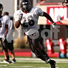 Beck Diefenbach  -  bdiefenbach@daily-chronicle.com<br /> <br /> Northern Illinois University's Chad Spann during practice at Huskie Stadium in DeKalb, Ill., on Wednesday Aug. 25, 2010.