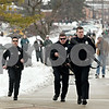 Chronicle File Photo<br /> <br /> Members of the DeKalb Police Department rush to Cole Hall on the afternoon of February 14, 2008 in Dekalb, Ill.