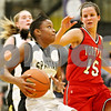 Rob Winner – rwinner@daily-chronicle.com<br /> <br /> After a steal, Sycamore's Lake Kwaza goes to the basket for two during the first quarter in Sycamore, Ill. on Tuesday December 7, 2010.