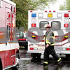 Rob Winner – rwinner@daily-chronicle.com<br /> <br /> Ambulances from Little Rock-Fox Fire Protection District and Leland arrive at Somonauk Middle School on Thursday May 13, 2010 in Somonauk, Ill.<br /> <br /> * The firefighter pictured is from Somonauk Fire