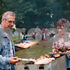 Beck Diefenbach – bdiefenbach@daily-chronicle.com<br /> <br /> (Left) Ted and Kathy Elliott, of DeKalb, check the barbecue during a family reunion at Hopkins Park in DeKalb, Ill., on Monday Sept. 6, 2010.