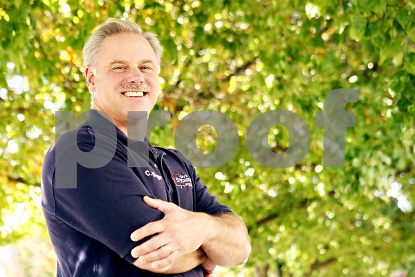 """Rob Winner – rwinner@daily-chronicle.com<br /> <br /> Lt. Cary Singer of the Sycamore police department is this year's """"Friend of the Fest"""" at Pumpkin Fest."""