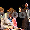 "Rob Winner – rwinner@daily-chronicle.com<br /> <br /> Dominic Johnson (right), playing Ichabod Crane in ""The Legend of Sleepy Hollow,"" practices his lines at the Egyptian Theatre in DeKalb, Ill. during rehearsal on Tuesday September 21, 2010."