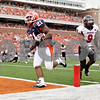 Rob Winner – rwinner@daily-chronicle.com<br /> <br /> Illinois running back Jason Ford runs into the end zone for a touchdown during their game against Northern Illinois in Champaign, Ill.  on Saturday September 18, 2010.