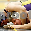Rob Winner – rwinner@daily-chronicle.com<br /> Matt Dwyer (left), of Hononegah, holds Clay Chaberski, of Genoa Kingston, during their 215-pound semifinal match at the Sycamore Wrestling Invitational in Sycamore, Ill. on Saturday January 9, 2010.
