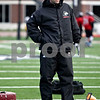 Rob Winner – rwinner@daily-chronicle.com<br /> <br /> NIU quarterbacks coach Jim Zebrowski works with the quarterbacks during practice at Huskie Stadium in DeKalb, Ill. on Thursday April 8, 2010.