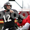 Rob Winner – rwinner@daily-chronicle.com<br /> <br /> NIU quarterback Chandler Harnish looks to throw during practice at Huskie Stadium in DeKalb, Ill. on Thursday April 8, 2010.