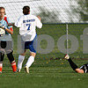 Rob Winner – rwinner@daily-chronicle.com<br /> <br /> Hinckley-Big Rock goalkeeper Jessica Leifheit stops a Hinckley-Big Rock scoring chance during the first half of their game in Hinckley, Ill. on Wednesday April 28, 2010.