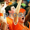 Beck Diefenbach - bdiefenbach@daily-chronicle.com<br /> <br /> DeKalb fans cheer during the final seconds of the fourth quarter of the IHSA Class 3A Regional championship game against Kaneland at Kaneland High School in Maple Park, Ill., on Friday March 3, 2010.