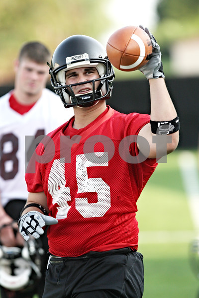 Beck Diefenbach - bdiefenbach@daily-chronicle.com<br /> <br /> Northern Illinois long snapper Nolan Owen during the first practice at Huskie Stadium in DeKalb, Ill., on Thursday Aug. 5, 2010.