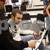 Beck Diefenbach – bdiefenbach@daily-chornicle.com<br /> <br /> Kevin leads drumline class at DeKalb High School on Oct. 20, 2009. Soon after Kevin is allowed to move back home he begins volunteering at his old high school.