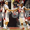 Rob Winner – rwinner@daily-chronicle.com<br /> <br /> NIU forward Tim Toler (left) is congratulated by guard Michael Patton after a basket in the first half of their game in DeKalb, Ill. on Friday November 12, 2010.