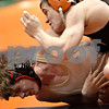 Beck Diefenbach - bdiefenbach@daily-chronicle.com<br /> <br /> Sycamore's Shane Lay (bottom) wrestles against Crystal Lake Central's Christian Malouf during the 140 weight class match of the IHSA Class 2A dual team state tournament at the U.S. Cellular Coliseum in Bloomington, Ill., on Saturday Feb. 27, 2010.