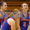 Rob Winner – rwinner@daily-chronicle.com<br /> <br /> Hinckley-Big Rock's Kaitlin Phillips (from left to right), Rachel Michaels, and Rachel Phillips laugh off a missed opportunity during the second game against Mooseheart in Hinckley, Ill. on Wednesday October 27, 2010. Hinckley-Big Rock defeated Mooseheart, 25-11 and 25-14.