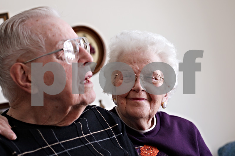 Beck Diefenbach  -  bdiefenbach@daily-chronicle.com<br /> <br /> Oliver, 94, and Mary Carpenter, 91, of DeKalb, Ill., have been married for 67 years.