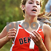 Beck Diefenbach  -  bdiefenbach@daily-chronicle.com<br /> <br /> DeKalb's Dessa Diedrich crosses the finish line at the Sycamore Invitational event at Kishwuakee Community College in Malta, Ill., on Tuesday Aug. 31, 2010.