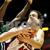 Beck Diefenbach  -  bdiefenbach@daily-chronicle.com<br /> <br /> Northern Illinois' Sean Kowal (41, front) is stopped by Ohio's Kenneth Van Kempen (12, back) during the first half of the game at NIU's Convocation Center in DeKalb, Ill., on Wednesday Jan. 27, 2010.