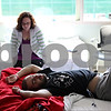 Beck Diefenbach – bdiefenbach@daily-chornicle.com<br /> <br /> An exhausted Kevin Ballantine, of DeKalb, lays on his hospital bed following a bone marrow transplant as his girlfriend at the time, Erika Sorg, sits by at the University of Chicago Medical Center in Chicago, Ill., on June 12, 2009.  During the Spring of 2009 Kevin Ballantine was diagnosed with Leukemia.
