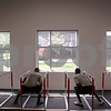 Beck Diefenbach - bdiefenbach@daily-chronicle.com<br /> <br /> Football defensive players side step under hurdle in the weight room at the Yordon Center on the Northern Illinois University Campus in DeKalb, Ill., on Tuesday Aug. 10, 2010.