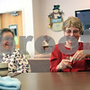 Beck Diefenbach  -  bdiefenbach@daily-chronicle.com<br /> <br /> (Right) Carol Foster, of Sycamore, and Lorie Kruse, of DeKalb, work on their knitting projects at the Senior Services Center in DeKalb, Ill., on Monday Jan. 4, 2010. The knitting group gets together every Monday from 1 P.M. to 3 P.M.