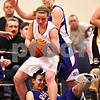 Beck Diefenbach  -  bdiefenbach@daily-chronicle.com<br /> <br /> Hinckley-Big Rock's Tess Godhardt (bottom) gets stuck under Stockton's Jessica Burner (11) during the third quarter of the IHSA Class 1A Super Sectional championship game at Judson University in Elgin, Ill., on Monday Feb. 22, 2010.