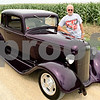 Rob Winner – rwinner@daily-chronicle.com<br /> <br /> Kirkland resident John Pierce, who is a member of the Turning Back Time Car Club, with his 1933 Plymouth PD Coupe on Thursday July 22, 2010.