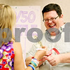 Rob Winner – rwinner@daily-chronicle.com<br /> <br /> Deb Beazley purchases a 50/50 raffle ticket from Adam Christiansen at the DeKalb County Government Legislative Center in Sycamore, Ill. on Wednesday May 26, 2010 during a hot dog luncheon to help raise money for Relay for Life.
