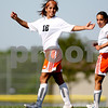 Beck Diefenbach  -  bdiefenbach@daily-chronicle.com<br /> <br /> DeKalb's Lizzy Conejo (18) reacts after scoring another goal during the first half of the game against Burlington Central at Rochelle Township High School in Rochelle, Ill., on Tuesday May 18, 2010. DeKalb defeated Burlington Central 4 to 2.