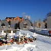 Beck Diefenbach – bdiefenbach@daily-chronicle.com<br /> <br /> A cross for each of the five victims of the shootings stand at the Martin Luther King Commons following the wreath laying at the memorial on NIU's campus in DeKalb, Ill., on Sunday Feb. 14, 2010.