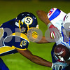 Philip Marruffo/pmarruffo@svnmai<br /> <br /> Sterling's Andrew Trobaugh brings down Curie's Mitch Altman-McCray Friday night.