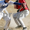 Beck Diefenbach  -  bdiefenbach@daily-chronicle.com<br /> <br /> Indian Creek Brandon Creed (9, right) scores the winning run as Hinckley-Big Rock's Colton Craig (14) covers the plate in the top of the seventh  inning of the game in Big Rock, Ill., on Tuesday April 27, 2010. Indian Creek defeated H-BR 9 to 8.