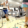 Beck Diefenbach  -  bdiefenbach@daily-chronicle.com<br /> <br /> Will Poterek shuffles his feet during plyometric training at Athletic Republic in Dekalb, Ill., on Thursday July 15, 2010. Poterek will be playing basketball at William Penn University in the Fall.