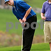 Beck Diefenbach – bdiefenbach@daily-chronicle.com<br /> <br /> Hinckley-Big Rock's Luke Winkle reacts after putting the 16th green during the Little 10 Conference Meet at the Hughes Creek Golf Course in Elburn, Ill., on Wednesday Sept. 22, 2010.