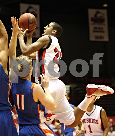 Rob Winner – rwinner@daily-chronicle.com<br /> <br /> Northern Illinois guard Tony Nixon takes a shot during the first half in DeKalb, Ill. on Monday November 29, 2010.