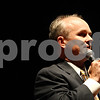 Rob Winner – rwinner@daily-chronicle.com<br /> <br /> Clay Campbell, who is running for states attorney, introduces himself to the visitors of Tuesday night's forum at the Egyptian Theatre in DeKalb, Ill.<br /> <br /> Tuesday September 28, 2010