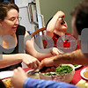Beck Diefenbach  -  bdiefenbach@daily-chronicle.com<br /> <br /> Julianna Ladas and her son Kaden, 5, eat dinner with the rest of their family at their home in Sycamore, Ill., on Thursday May 6, 2010.