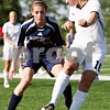 Rob Winner – rwinner@daily-chronicle.com<br /> <br /> Sycamore's Lindsey Hemmerich (front) looks to make a move on Saint Viator's Katelyn Hammarlund during the first half of the IHSA Class 2A Barrington Super-Sectional on Tuesday June 1, 2010 in Barrington, Ill. Saint Viator defeated Sycamore, 3-0.