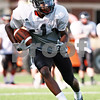 Beck Diefenbach  -  bdiefenbach@daily-chronicle.com<br /> <br /> Northern Illinois University's Martel Moore during practice at Huskie Stadium in DeKalb, Ill., on Wednesday Aug. 25, 2010.