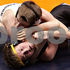 Beck Diefenbach - bdiefenbach@daily-chronicle.com<br /> <br /> Sycamore's Brenden McGehee (left) wrestles against Crystal Lake Central's Ryan Lundelius during the 103 weight class match of the IHSA Class 2A dual team state tournament at the U.S. Cellular Coliseum in Bloomington, Ill., on Saturday Feb. 27, 2010.