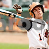 Rob Winner – rwinner@daily-chronicle.com<br /> <br /> DeKalb catcher Jake Lemay tosses his bat towards the dugout after being hit by a pitch in the first inning during the IHSA Class 3A championship in Joliet, Ill. on Saturday June 12, 2010.