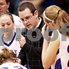 Beck Diefenbach  -  bdiefenbach@daily-chronicle.com<br /> <br /> Hinckley-Big Rock head coach Greg Burks talks with his players during a time out in the third quarter of the game at H-BR High School in Hinckley, Ill., on Thursday Jan. 14, 2010. H-BR defeated Newark 46 to 30.