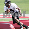 Beck Diefenbach - bdiefenbach@daily-chronicle.com<br /> <br /> Northern Illinois tailback Jasmin Hopkins during the first practice at Huskie Stadium in DeKalb, Ill., on Thursday Aug. 5, 2010.